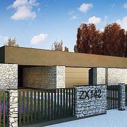 Parterowy dom jednorodzinny z garażem dwustanowiskowym i tarasem...