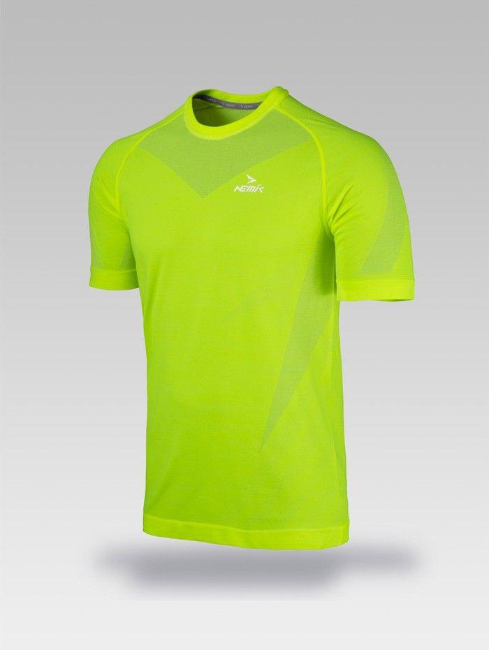 Playera deportiva amarilla Nemik #tshirt #yellow #Nemik