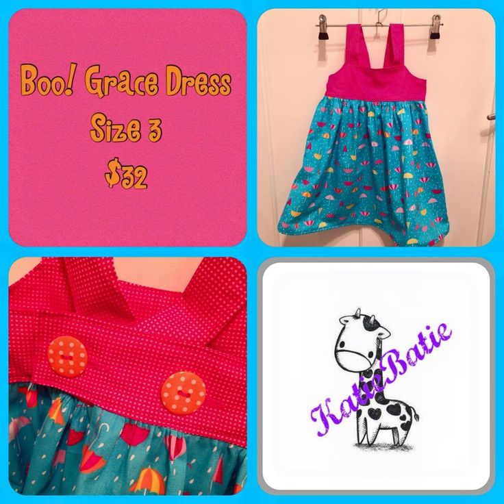 Handmade by Katie Batie Bright and fun Grace dress