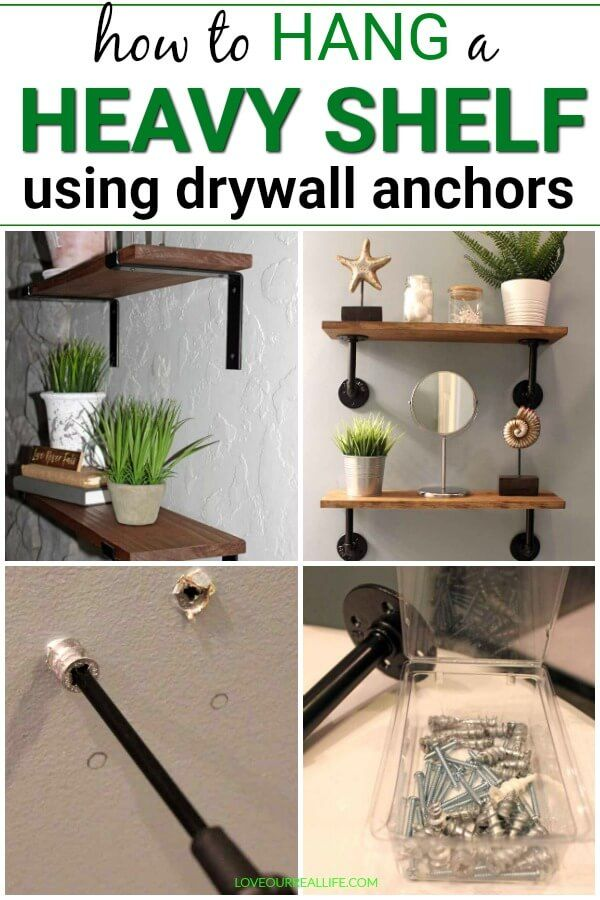 Wall anchors for heavy shelves