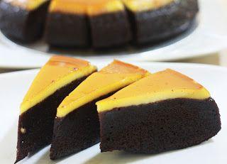 KUE COKELAT KARAMEL Dipadukan dengan coklat, Tidak diragukan lagi Karamel Cake ini sangat lezat rasanya.