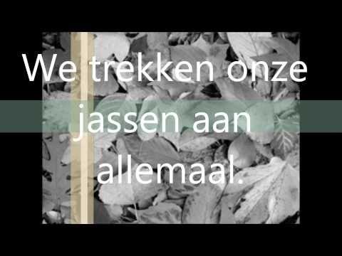 ▶Liedje: Herfst is weer gekomen met tekst - YouTube