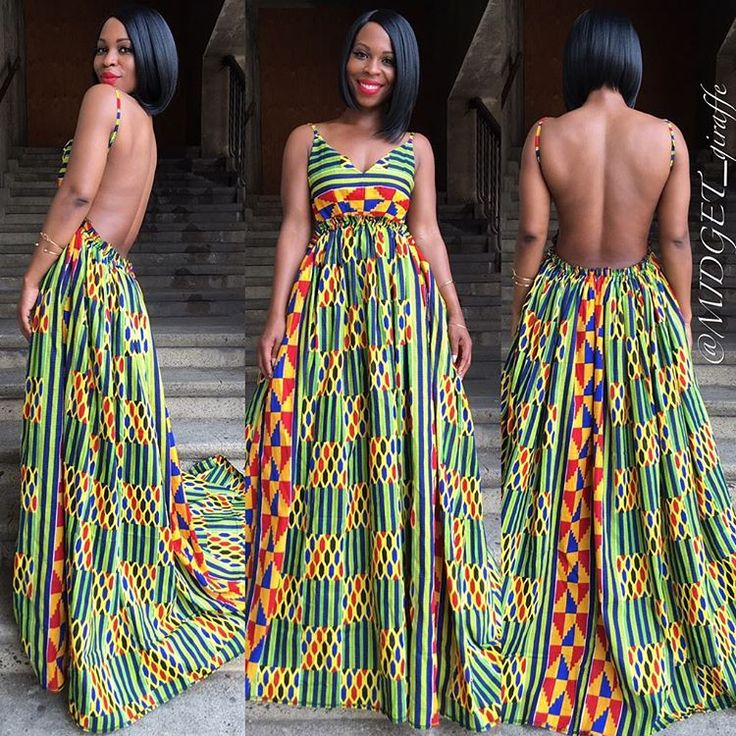 """Watch her leave"" maxi dress in Kente is heading your way.   Shop our new summer collection via www.shopmidgetgiraffe.com"