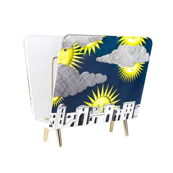 Discover the Fornasetti Sole di Capri Magazine Rack at Amara