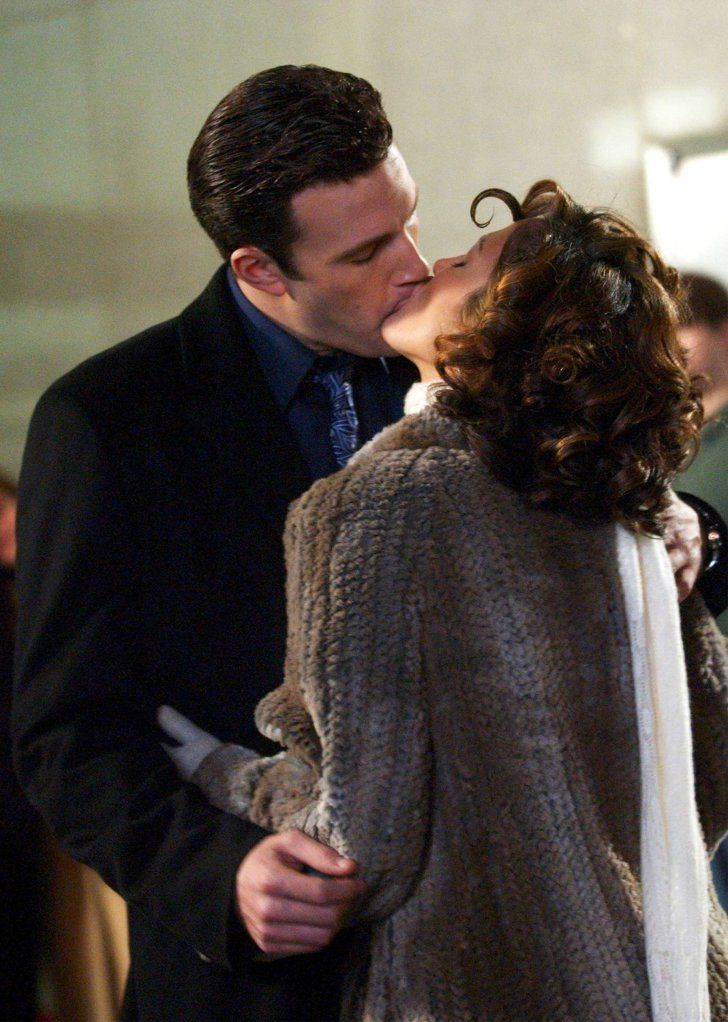 Pin for Later: These Photos of Jennifer Lopez and Ben Affleck Will Take You Way Back  The pair showed major PDA as they filmed their movie Jersey Girl in November 2002.