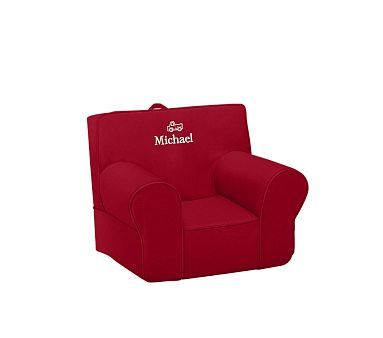 Very cool kid's chair - I could put that in the back of my car of out-door sessions :) Red Anywhere Chair #WilliamsSonoma
