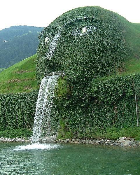 Swarovski Kristallwelten - Wattens, Austria. This hides the entrance to the Swarovski Crystals HQ