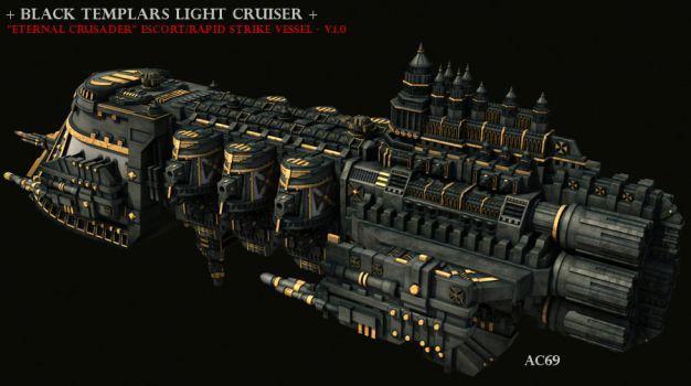 Black Templars Light Cruiser By Andrea1969 Warhammer