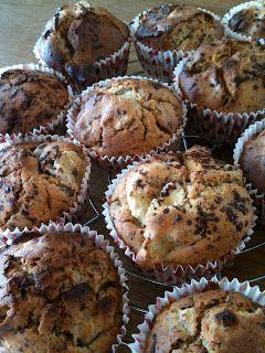 de pretmeloen: Chocolade-banaan muffin, zonder suiker!