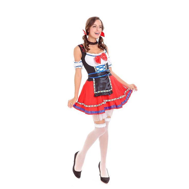 Oktoberfest Germany Beer Carnaval Festival October Dirndl Skirt Dress Sleeveless Apron Maid Costume Women Beer Girl Fancy Dress