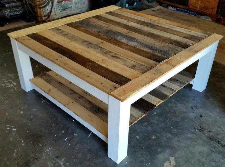 Large Wooden Pallet Coffee Table - 30 DIY Pallet Ideas for Your Home | 101…