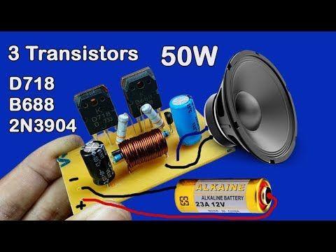 Simple Basic audio Amplifier Circuit using Transistor - YouTube