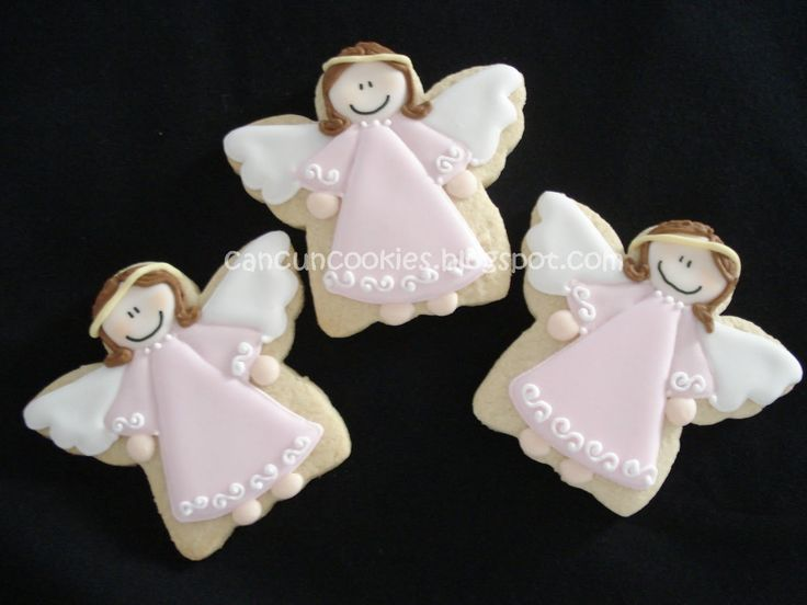 Angel Cookies for Christmas or baby shower
