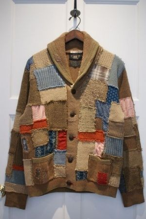 Classic Timeless Design - RRL LIMITED PATCHWORK CARDIGAN
