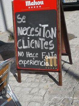Se necesitan clientes. No hace falta experiencia