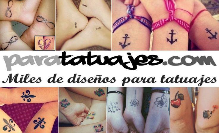 Tatuajes para amigas Los mejores diseos  Para Tatuajes