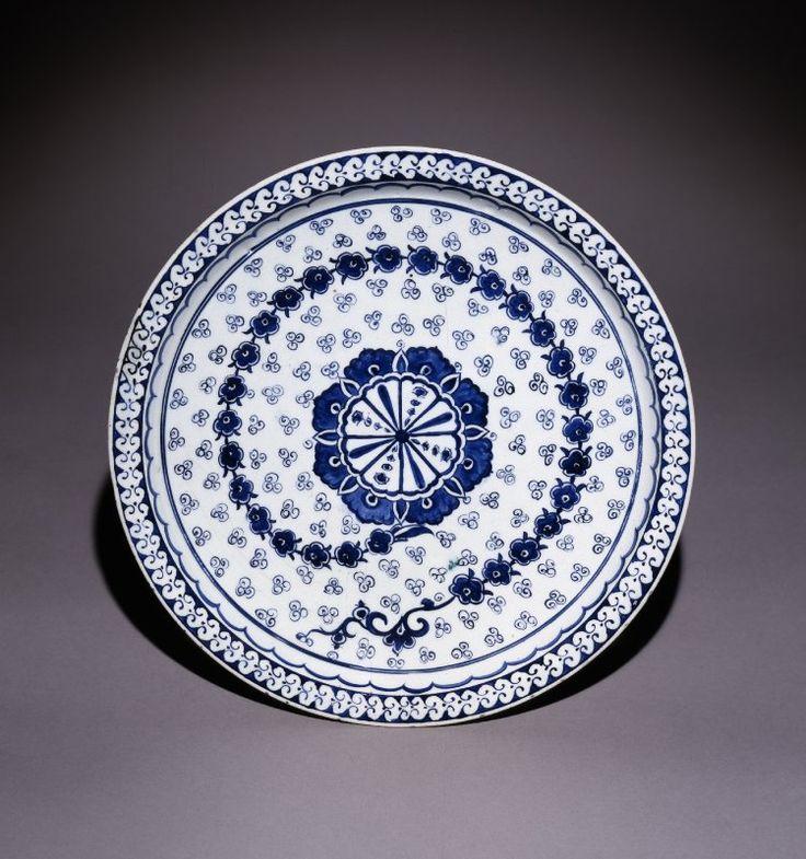 dish; Ottoman dynasty; 16thC(early); Iznik