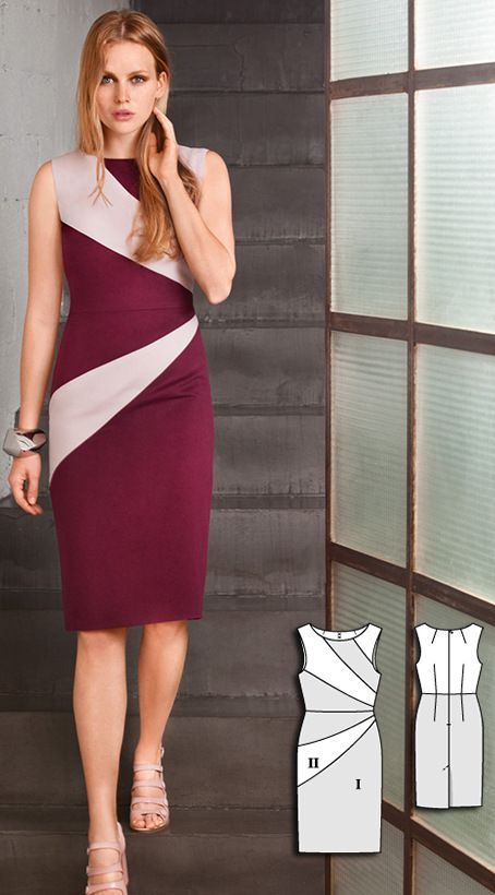 Burda Oct 2016 #105 http://www.burdastyle.com/pattern_store/patterns/sheath-dress-102016