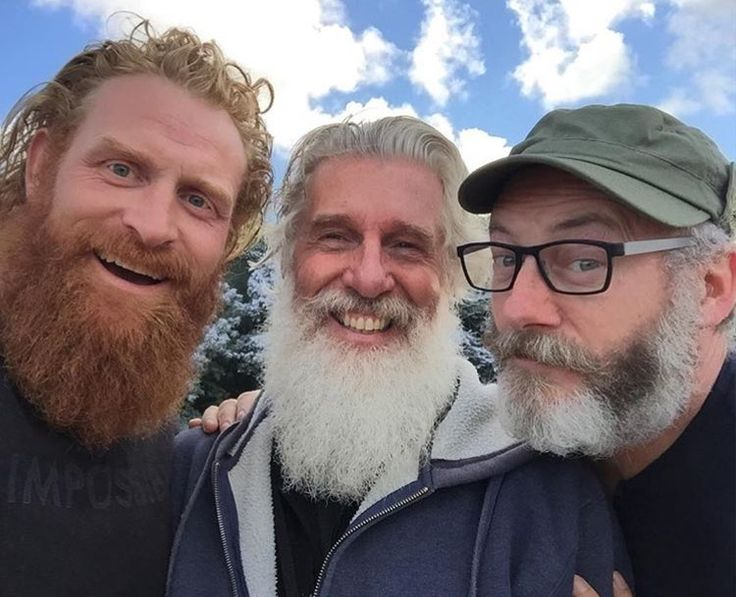 Kristofer Hivju, #GameofThrones producer Christopher Newman, and Liam Cunningham