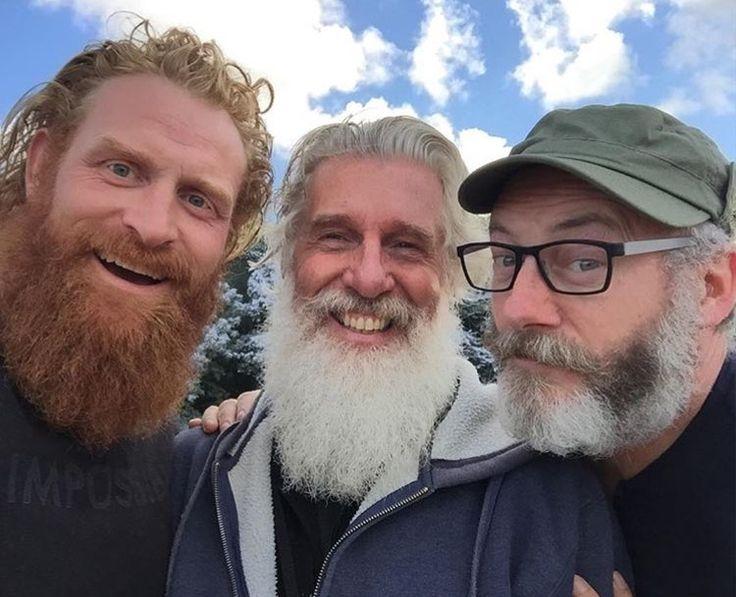 Kristofer Hivju, #GameofThrones producer Christopher Newman, and Liam Cunningham
