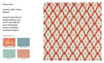 Konya Coral Upholstery Fabric - CB Upholstered Collection - eclectic - upholstery fabric - new york - Coach Barn