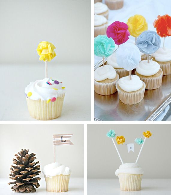 Charming toppers in Decoration stuff for cupcakes and muffins