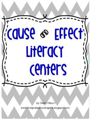 Cause and Effect Literacy Centers from First Grade Shenanigans on TeachersNotebook.com -  (2 pages)  - Two cause and effect activities