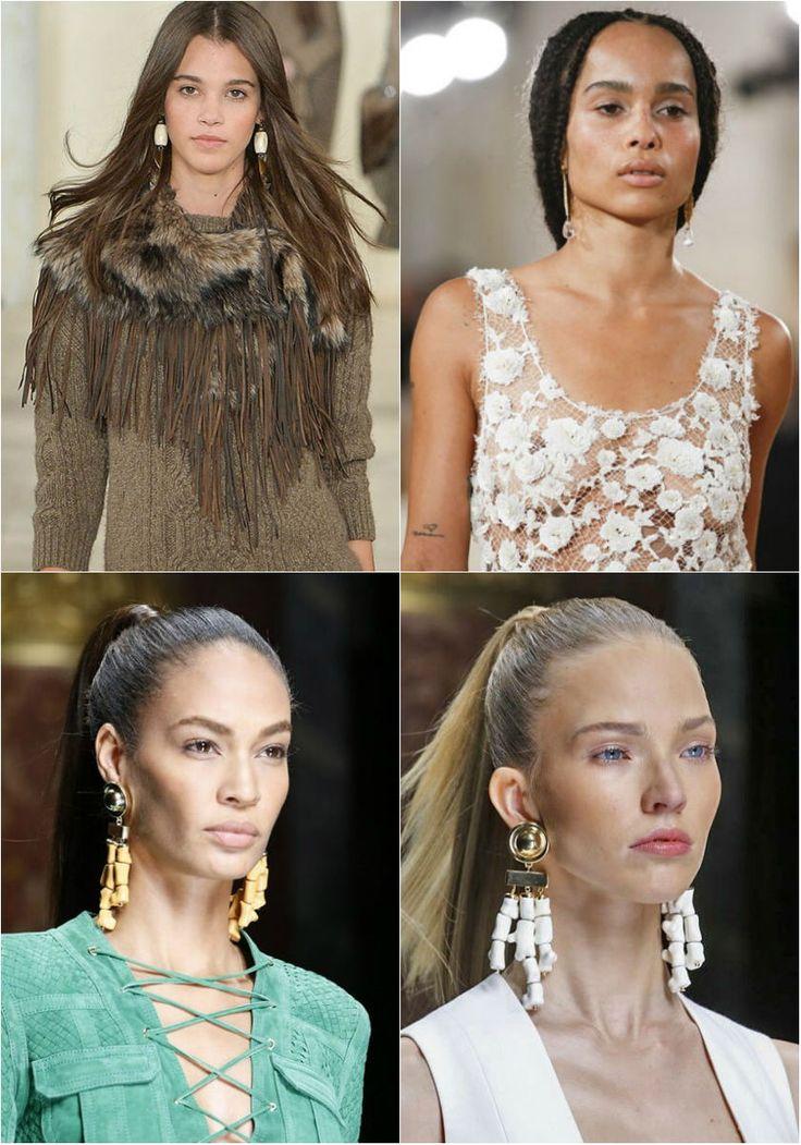 Модные серьги осень-зима 2017-2018 фото