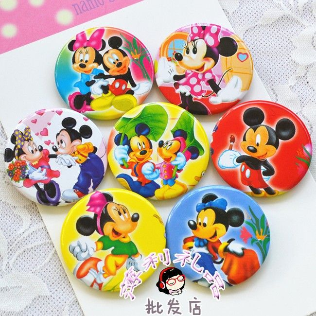 New !<40pcs/lot>Cute Cartoon badge brooch pin baby shower decorations baptism favors gifts kids birthday party supplies