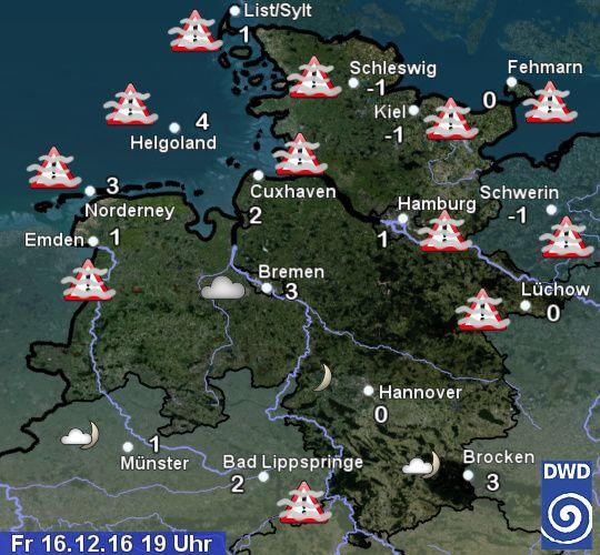 Wetter Heute in Hamburg und Schleswig-Holstein