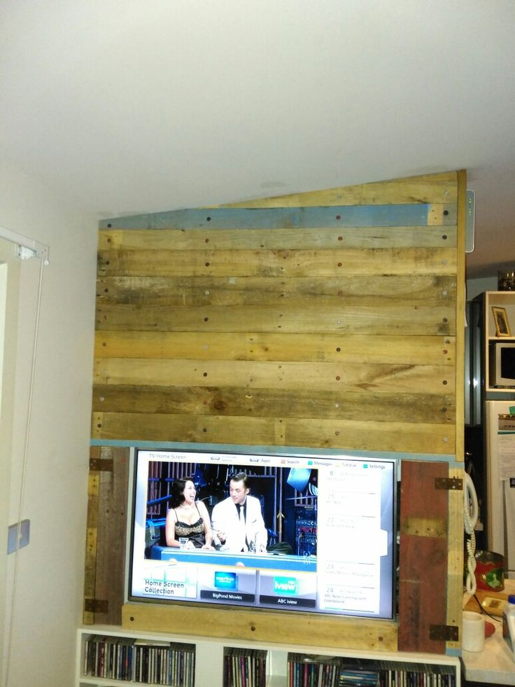 Pallet panel wall.