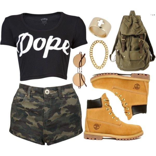 dope by thepolyvorecollection on Polyvore featuring Stampd, Timberland, Topshop and Kenneth Jay Lane