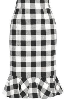 Dolce & Gabbana Gingham stretch-cotton skirt $1195 | NET-A-PORTER