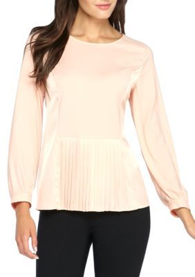The Limited Women's Satin Peplum Blouse - Coral Pink - Xs
