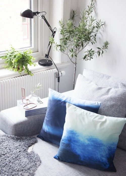 HOUSE OF BEATNIKS - MARELD CUSHION COVER (INDIGO)