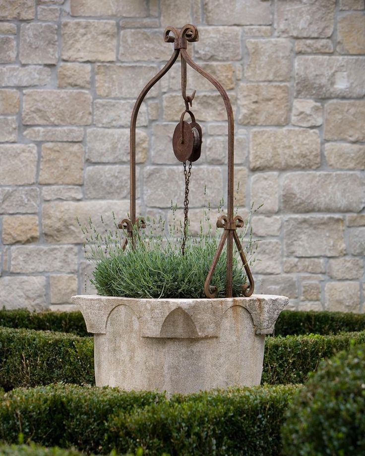 We provided this one-of-a-kind antique well for a client's garden, and it is still one of our favorite pieces. Explore our range of garden décor and accessories online, or stop by if you are in the Houston area. #chateaudomingue #antique #garden #lifestyle #home #style #interiors #decor #exteriors #outside #european