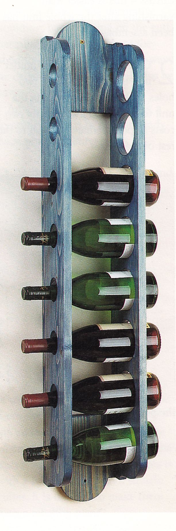 Wine rack design from Space-Saving Furniture Projects for the Home by Dave MacKenzie. If interested, please ask for a free quote on this item. We'd love to build it for you.