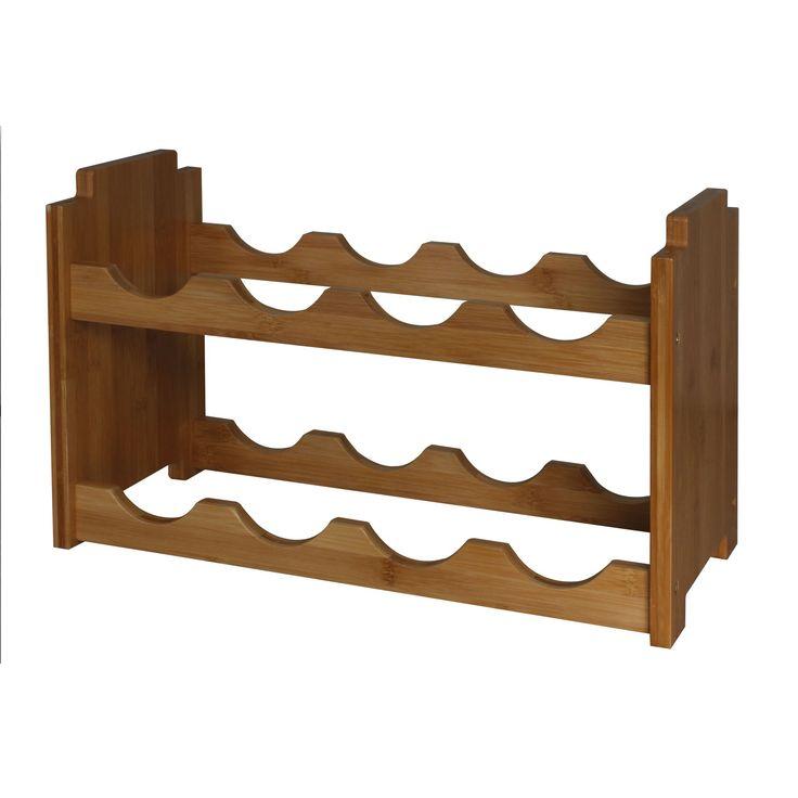 Kring bambusz borpalacktároló, Egymásra illeszthető, 48 x 22 x 30 cm