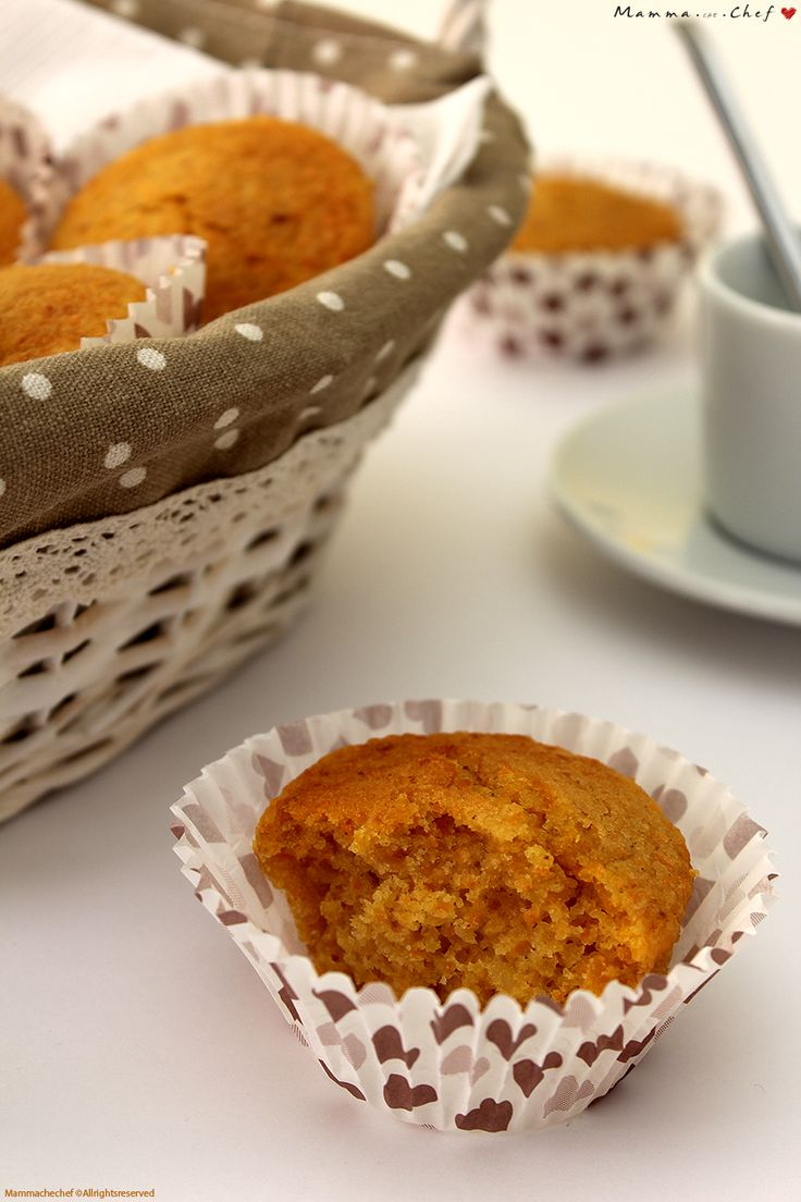 Muffin di carote. Leggeri e buonissimi. Senza burro, uova, latte