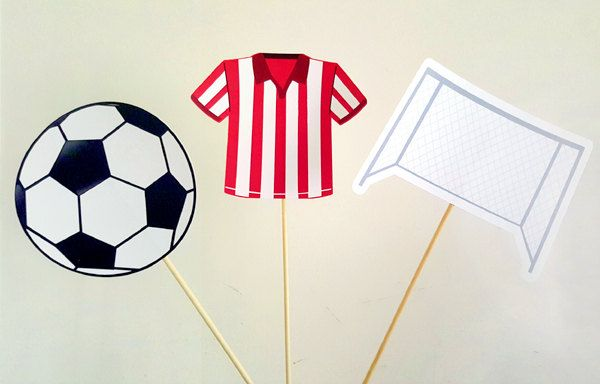 Soccer Centerpieces, Soccer Birthday Party, Soccer Baby Shower by CraftyCue on Etsy