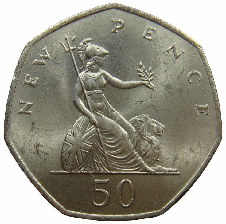 (B30) - Grossbritannien United Kingdom - 50 Pence 1970 Britannia - UNC - KM# 913 #coin #coins #numismatic #numismatics #numismatik #münzen #currency #money #ebay
