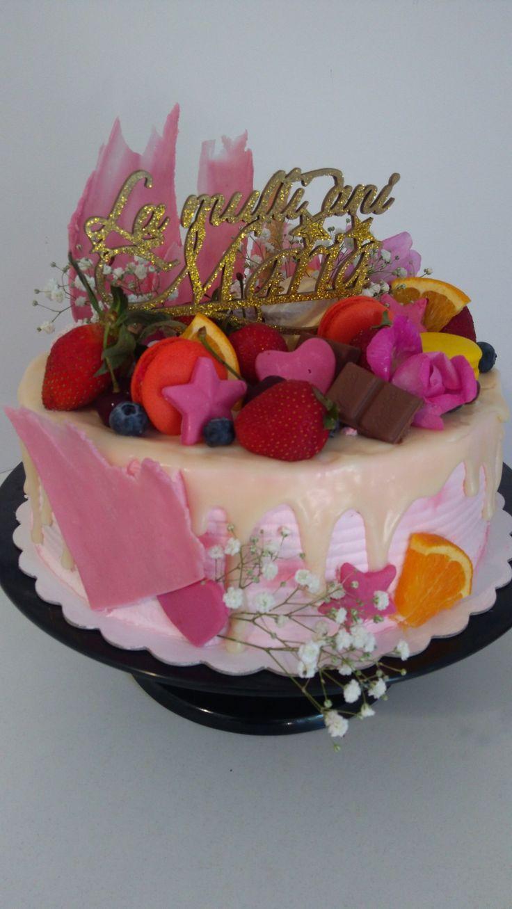 Birthday cake & custom Topper Cake, Cake toppers, Custom