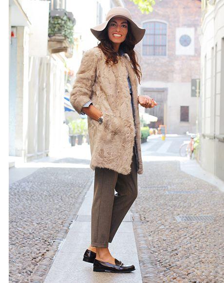 MARELLA cozy and warm #cigarettepants #hat #VivianaVolpicella