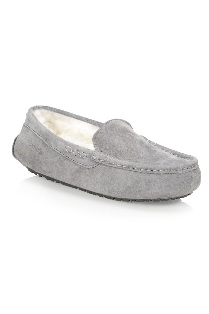 #nuknuuksweeps : The Loulou women's slipper (Grey) Our mocassin provides the ultimate in comfort in luxury.