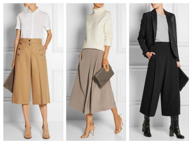 Элегантно и модно - брюки кюлоты