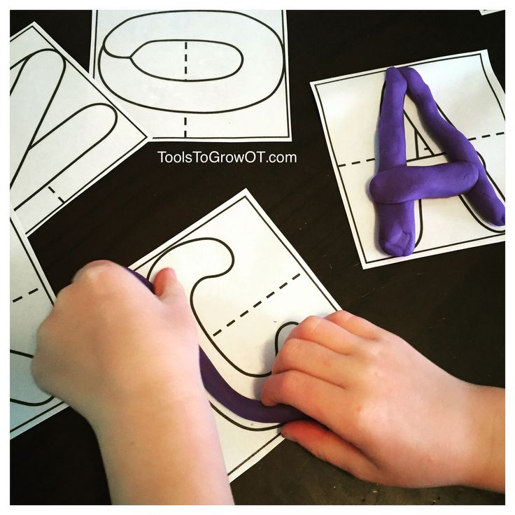 Dough letter fun!!