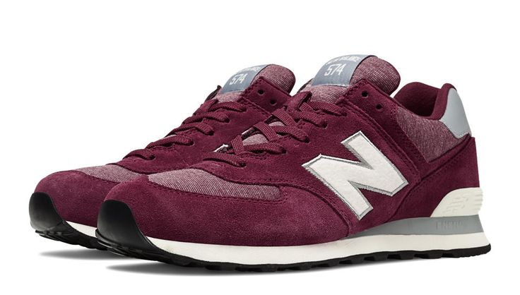 RYAN: Pennant Pack 574, Maroon with Off White size 10.5