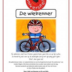 Project De-wielrenner De wielrenner moet hard trainen, gezond leven, goed eten en op tijd rusten. Zo bereidt hij zich voor op de wedstrijden die hij met zijn ploeg gaat rijden. Start, daar gaan we!  Dit pakket bevat reken- en taalactiviteiten en een les Engels bij het boek 'De wielrenner' van Liesbet Slegers. Met deze activiteiten kun je zeker twee weken aan de slag. Besteed aandacht aan bekende wielerrondes zoals de Tour de France en Giro d'Italia met dit pakket!