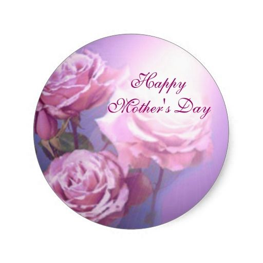 #Zazzle Happy Mother's Day Sticker by elenaind