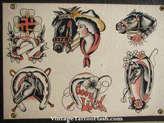 fred marquand original flash sheet vintage tattoo flash vintage flash ...